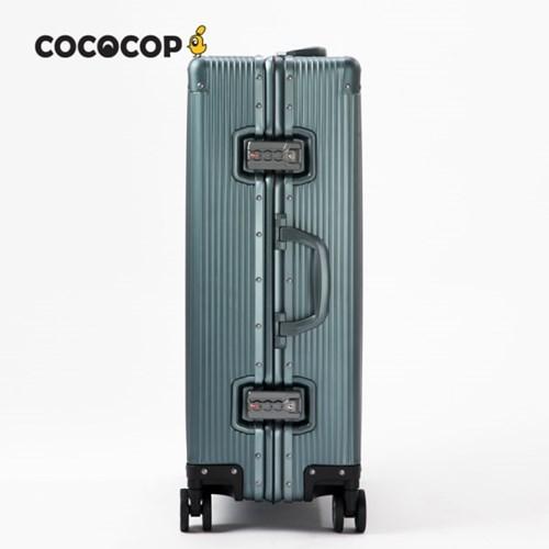 코코캅 델라 20인치 기내용 블랙 알루미늄 100% 여행용 캐리어