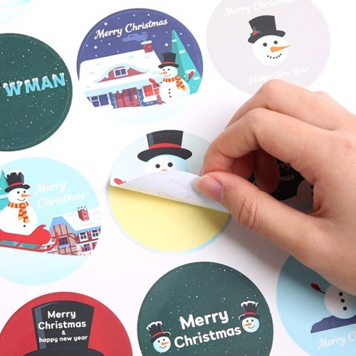 크리스마스 스티커 (3장입) 눈사람
