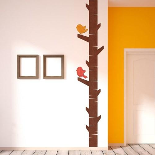 [우드스티커] 나무와새 (컬러완제품) W550