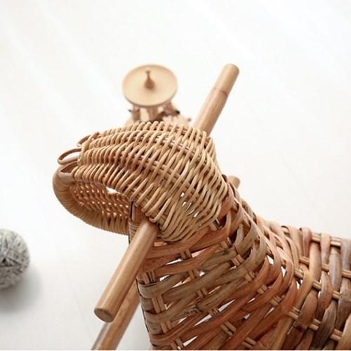 라탄 장식목마 흔들말 인테리어 소품