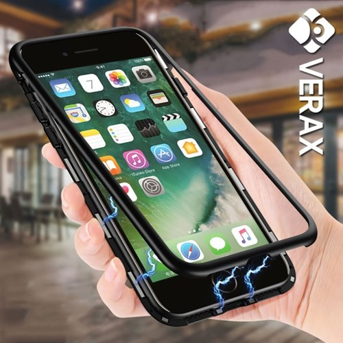 아이폰8 마그네틱 강화유리 커버 하드 케이스 P261