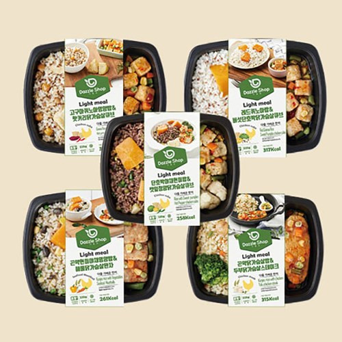 (10+10) 다즐샵 식단관리 도시락 15종 10팩+10팩