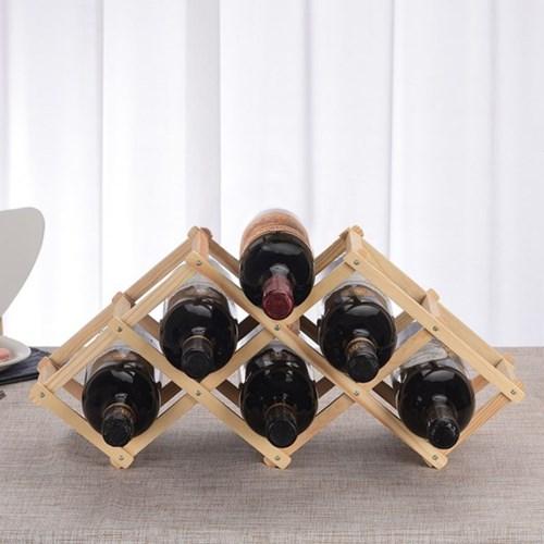 원목 폴딩 와인렉(6구)/접이식 와인거치대 와인홀더