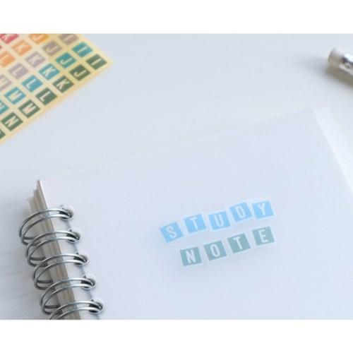 알파벳/숫자 투명스티커