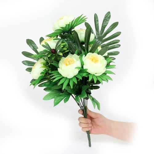 3+2행사 목단아레카 인테리어조화 부쉬 고급조화 산소꽃 성묘꽃