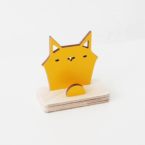 자작나무 고양이 원목 명함꽂이