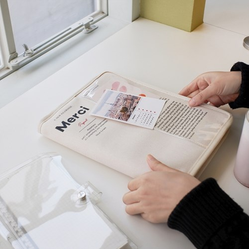 MERCI 11인치형 태블릿 파우치 - Ivory
