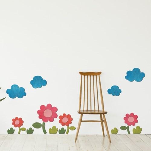 [우드스티커] 꽃과들 (컬러완제품) W556