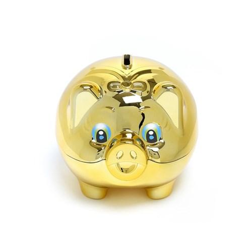 큐티 골드 돼지저금통(올금장) (중) / 잔돈저금통