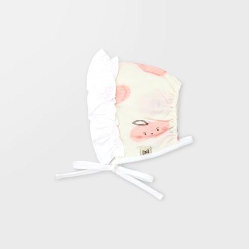 [메르베] 납작복숭아 아기 백일선물세트(내의+슈트+모자_(1400106)