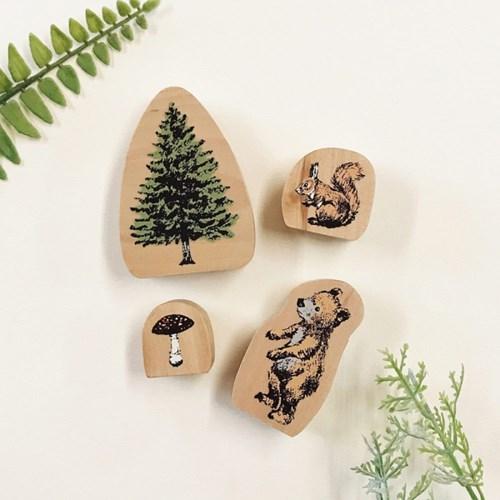 Forest Stamp 숲속 친구 스탬프 (디자인 선택)