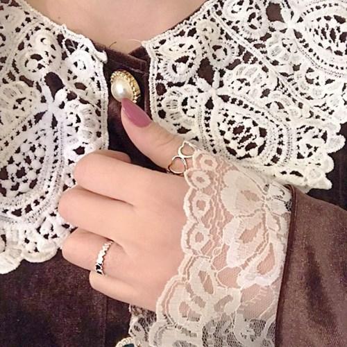 [925silver 하트 반지] 빅하트링