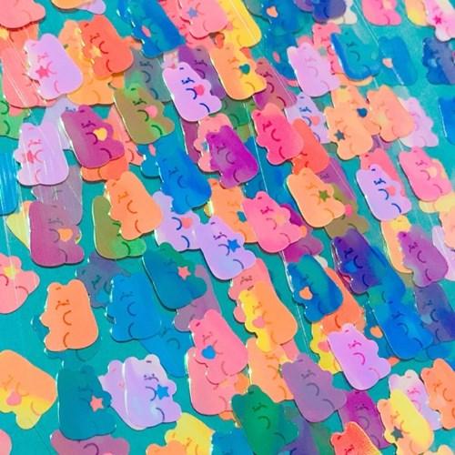 영롱한 쪼꼬만 젤리곰 칼선 스티커