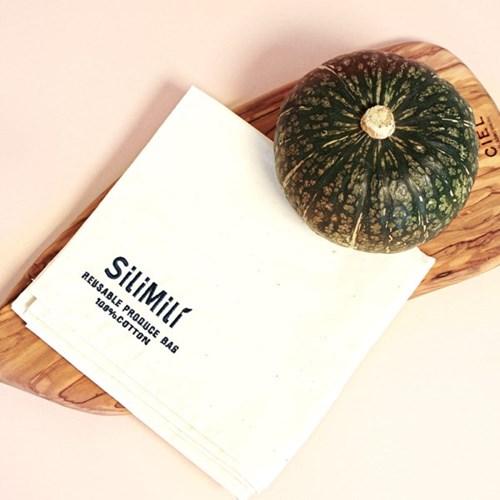 [실리밀리]  친환경 면100% 프로듀스백 7종 세트  야채/과일 보관백