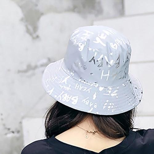 남자 여자 벙거지 모자 레터링버킷햇