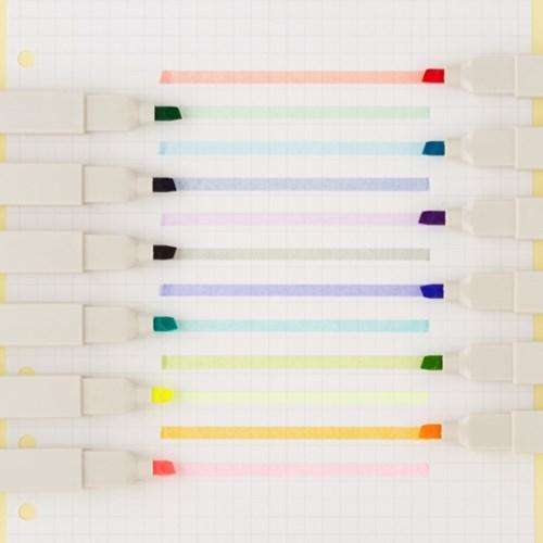 [JIWUSHE 문구] 형광펜 셋트 6 colors 2종