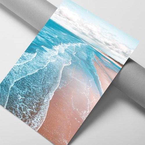 롱비치 바다 그림 액자 인테리어 포스터