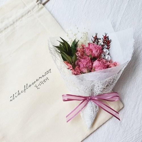 프로포즈 웨딩드레스 미니꽃다발
