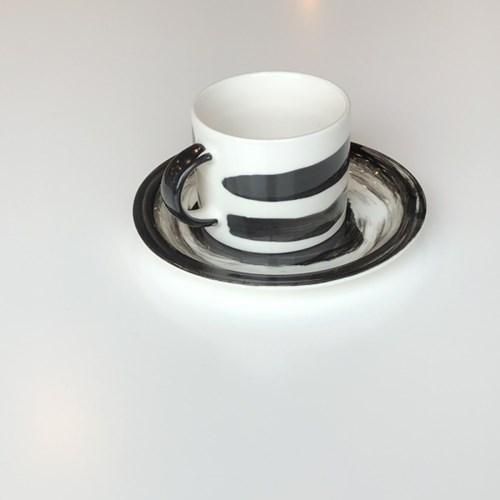 먹물 머그컵 / 접시