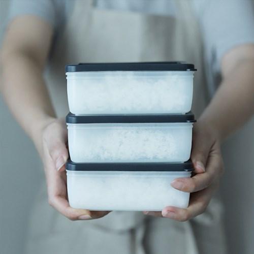 [리본제이]실리콘 바로바로밥 3P세트 냉동밥용기
