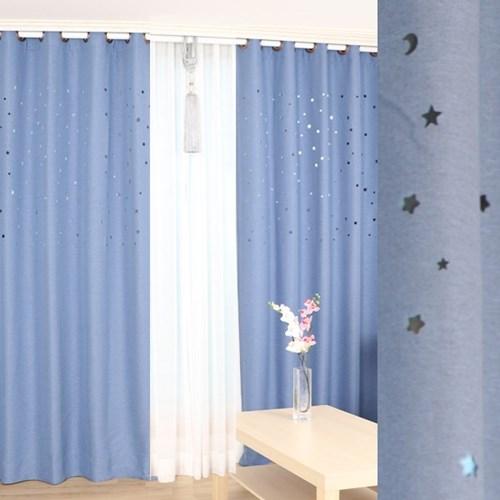 별과달 펀칭 암막커튼 단색 5color