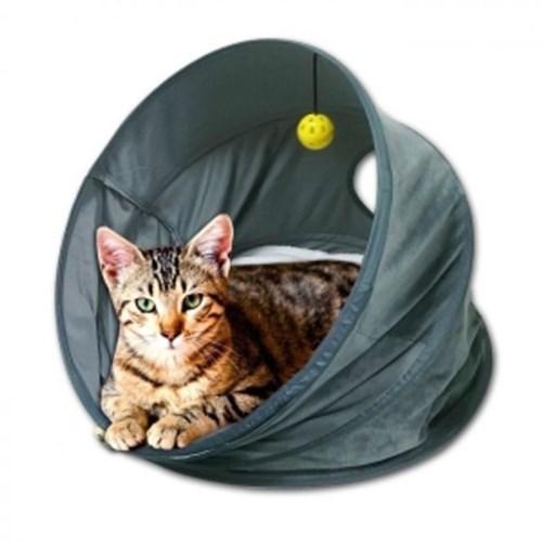 고양이집 퍼피 캣츠 원형 텐트 하우스 냥이 장난감