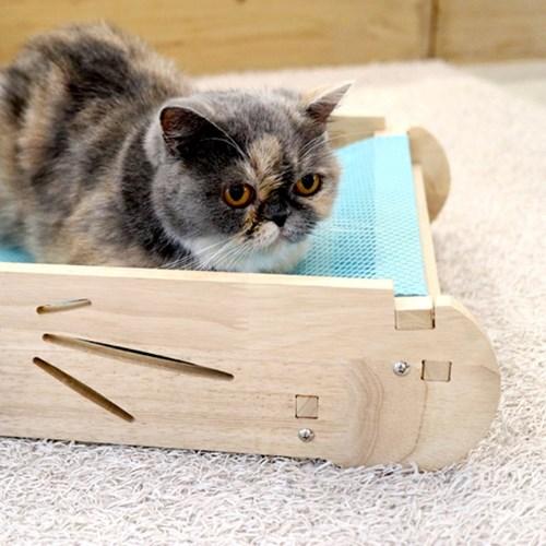 엉클펫 자작나무 고양이 망사 스크래쳐 매쉬 해먹