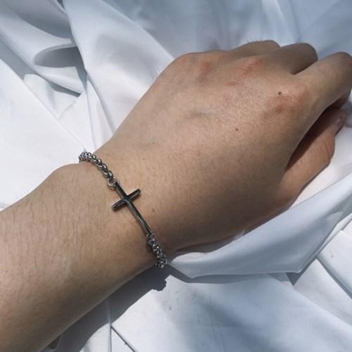 십자가 팔찌 써지컬 스틸 minimal cross_(1199358)