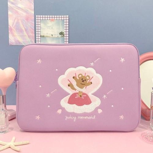 쥬시베어 노트북 파우치(15인치)