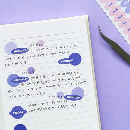 기본 스티커 1000-날짜/요일/월