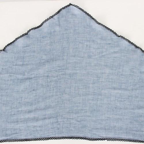 벤세르 코튼 레이스 삼각형 스카프