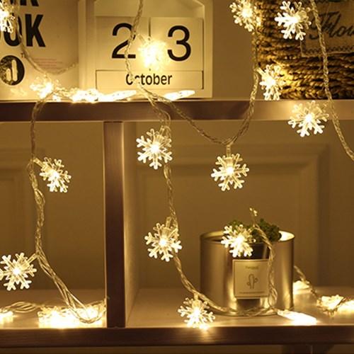 인블룸 눈꽃 LED전구 50구 건전지세트(웜화이트,순백색)_(2920545)