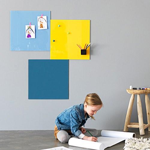 NAGA 자석 글라스보드 45x45 / 디자인 유리 화이트 보드 / 핑크계열