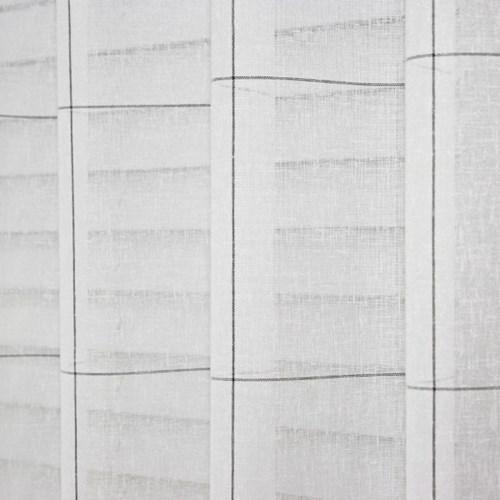 [나산] 속커튼 선염 체크화이트 린넨룩 (평주름) S1-61