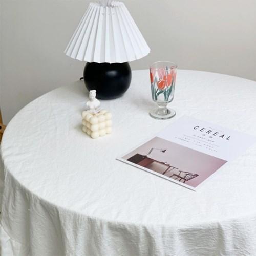 순면 화이트 린넨 식탁 테이블보 3size