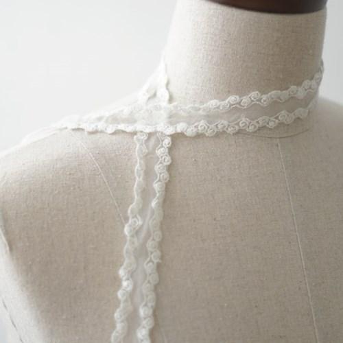 쁘띠 로즈 레이스 끈(1YD) - 스트랩 부자재 모자재료