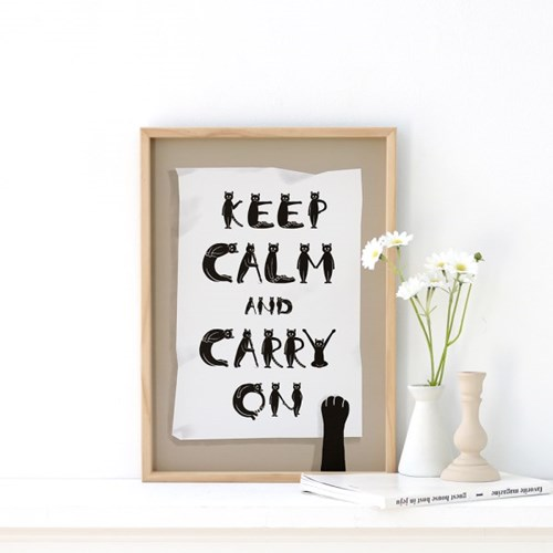 [A3 포스터, 캔버스액자] keep calm and carry on