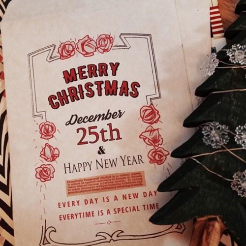로맨틱 크리스마스 포장봉투
