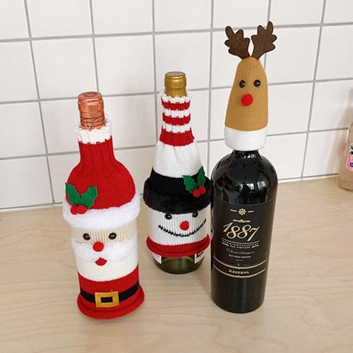 Knit Christmas Bottle Cover 니트보틀커버