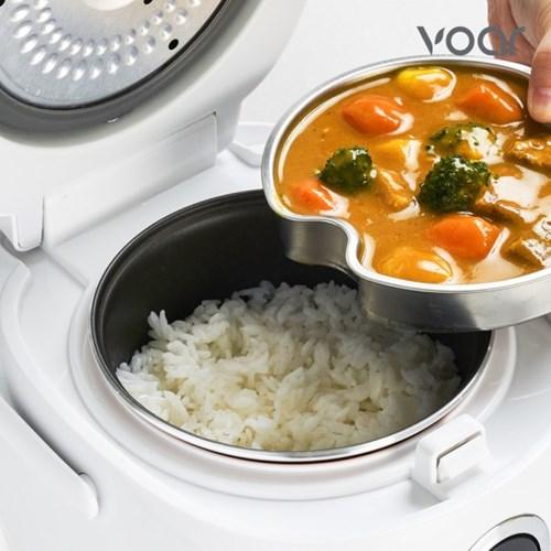 [보아르] 혼요 전기밥솥 소형 미니 이유식 보온 밥통
