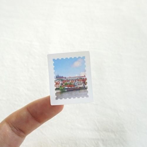 [메리필름] 체코 감성 우표 스티커 5장 1set