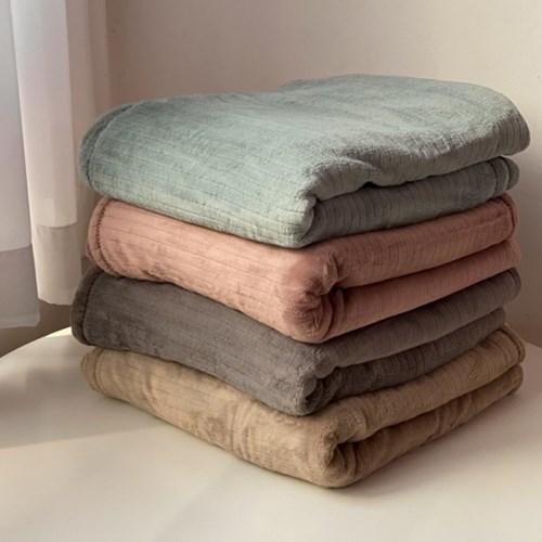 [1+1할인] 부드러운 극세사 무지 대형 담요 블랭킷 4color