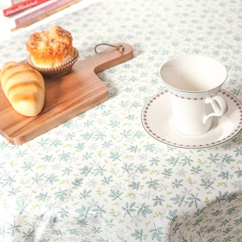 그린 리프 면 식탁보 테이블보 덮개