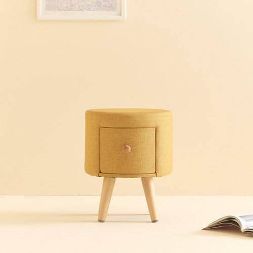 가구데코 리타 화장대 원형 서랍 스툴 의자 WD2004