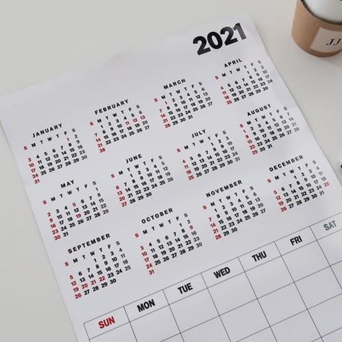 2021 달력 자석 메모보드 A3