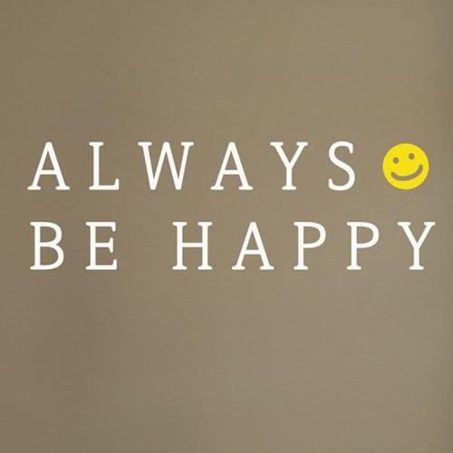 always be happy 감성 레터링 스티커
