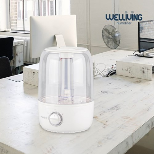 [웰리빙] 상부급수 원형 가습기 4L 화이트