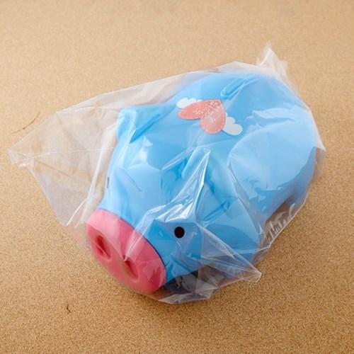 팬시 청색 돼지저금통(특대)/팬시점판매용 은행사은