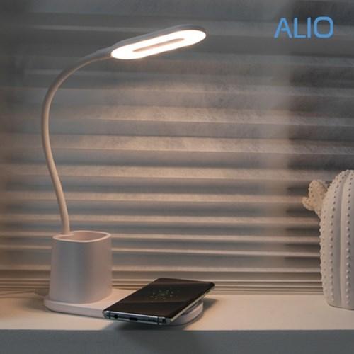알리오 이지멀티라이트 고속 무선충전기&LED램프&펜꽂이_(1381258)