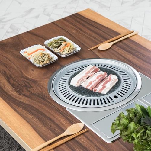 트리빔하우스 온가족 불판 철재접이식 테이블_TB20O66
